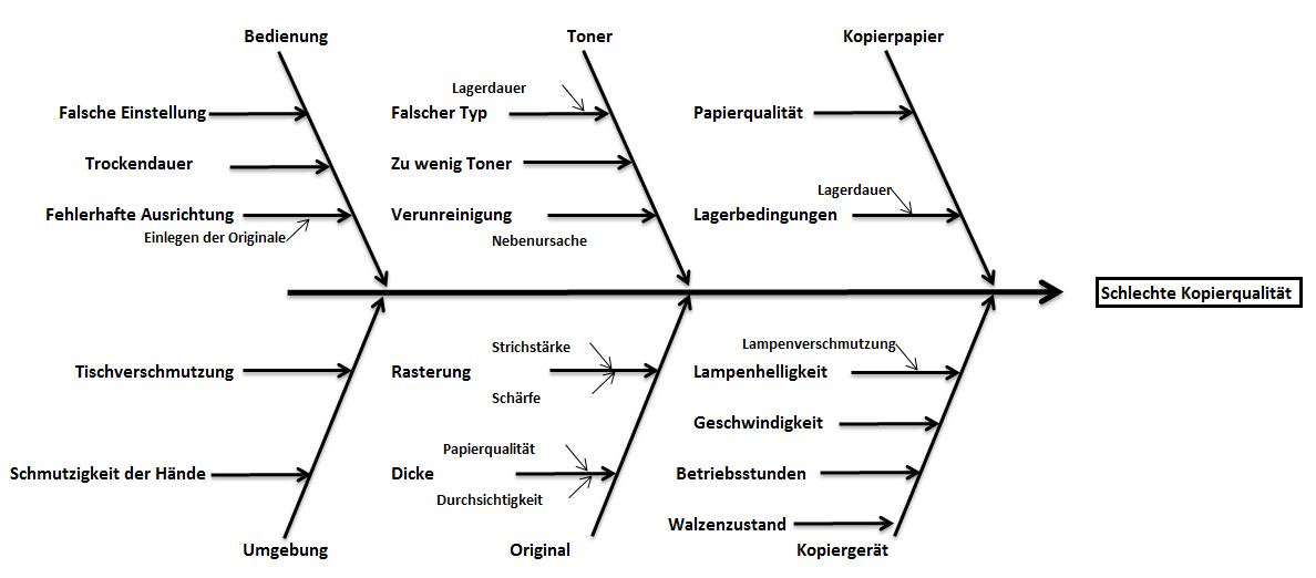 Das Ishikawa Diagramm Die Problemursachen 12